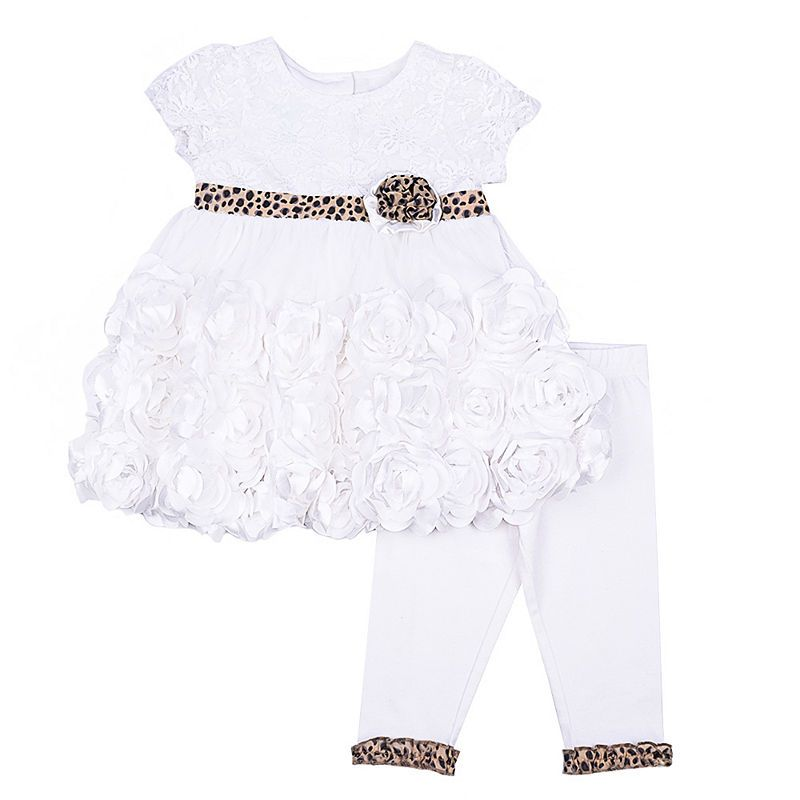 52d0996aa17d2 Nanette Baby 2-pc. Ivory Lace Mesh Legging Set-Baby Girls | Products ...