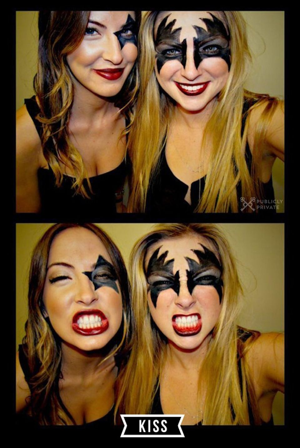 Best Halloween Costumes And Diy Makeup Kiss Costume Style Me Zowie Blus Printed Top L1726