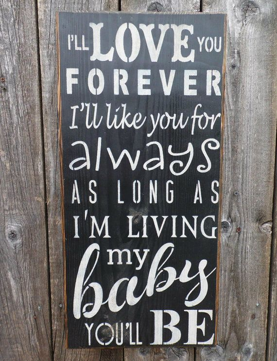 Word Signs Wall Decor Amazing Wooden Sign Wall Decor I'll Love You Forever Subway Art Wall Inspiration Design