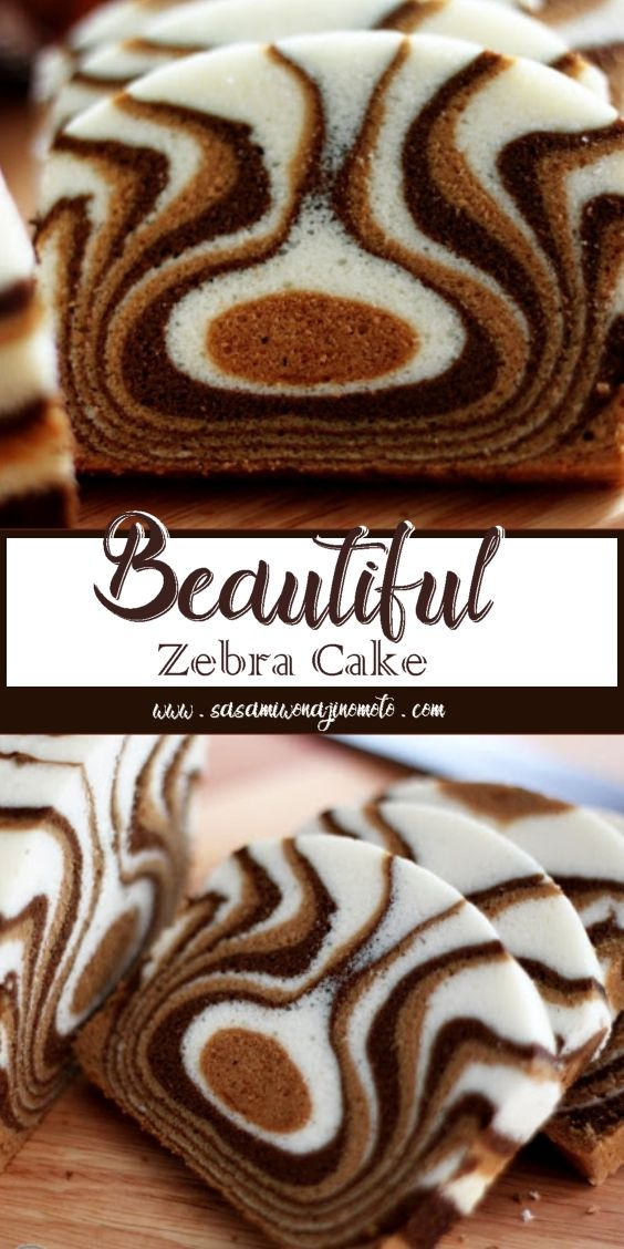 Beautiful Zebra Cake #easythingstocook