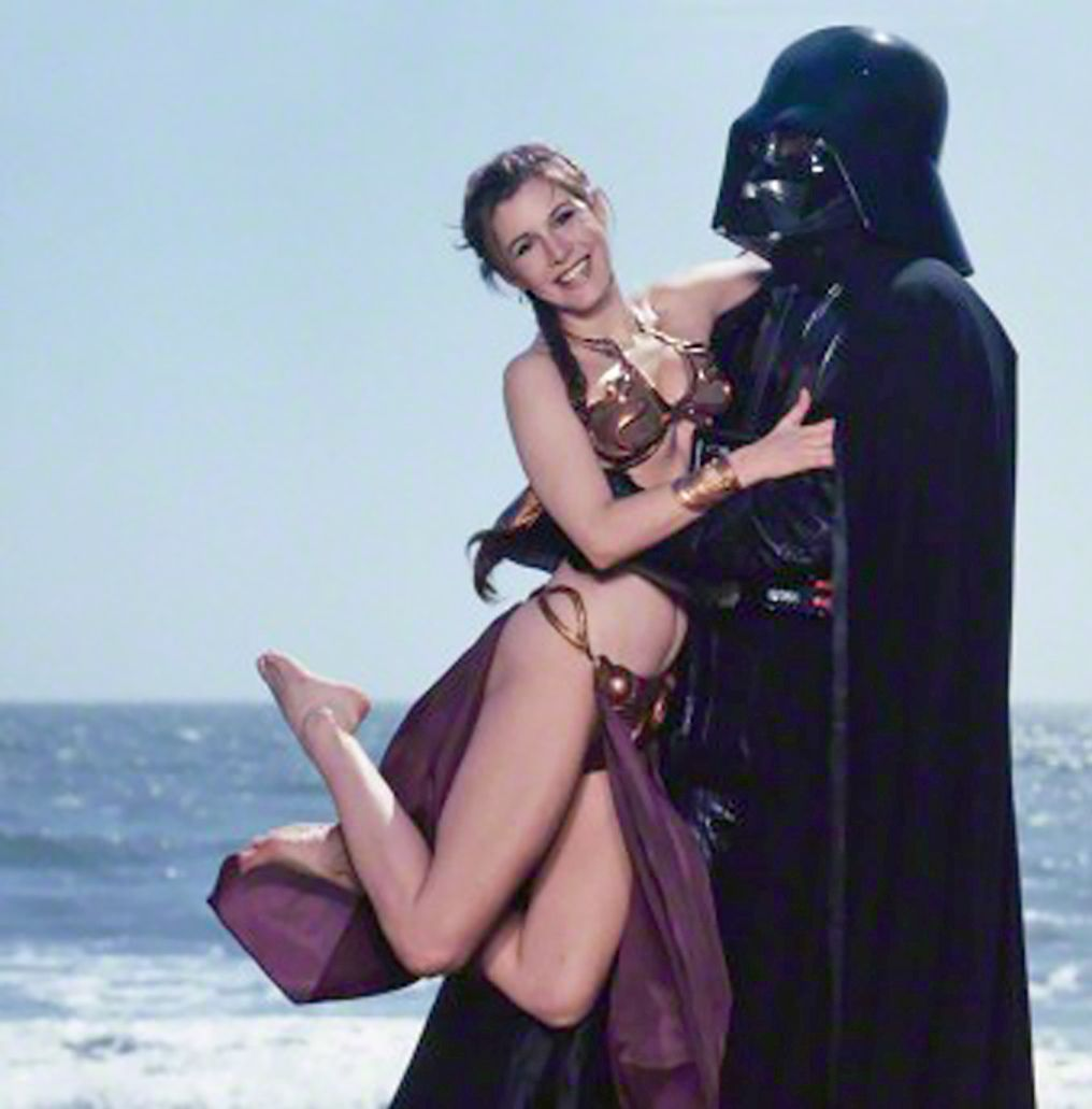 carrie fisher naked legs