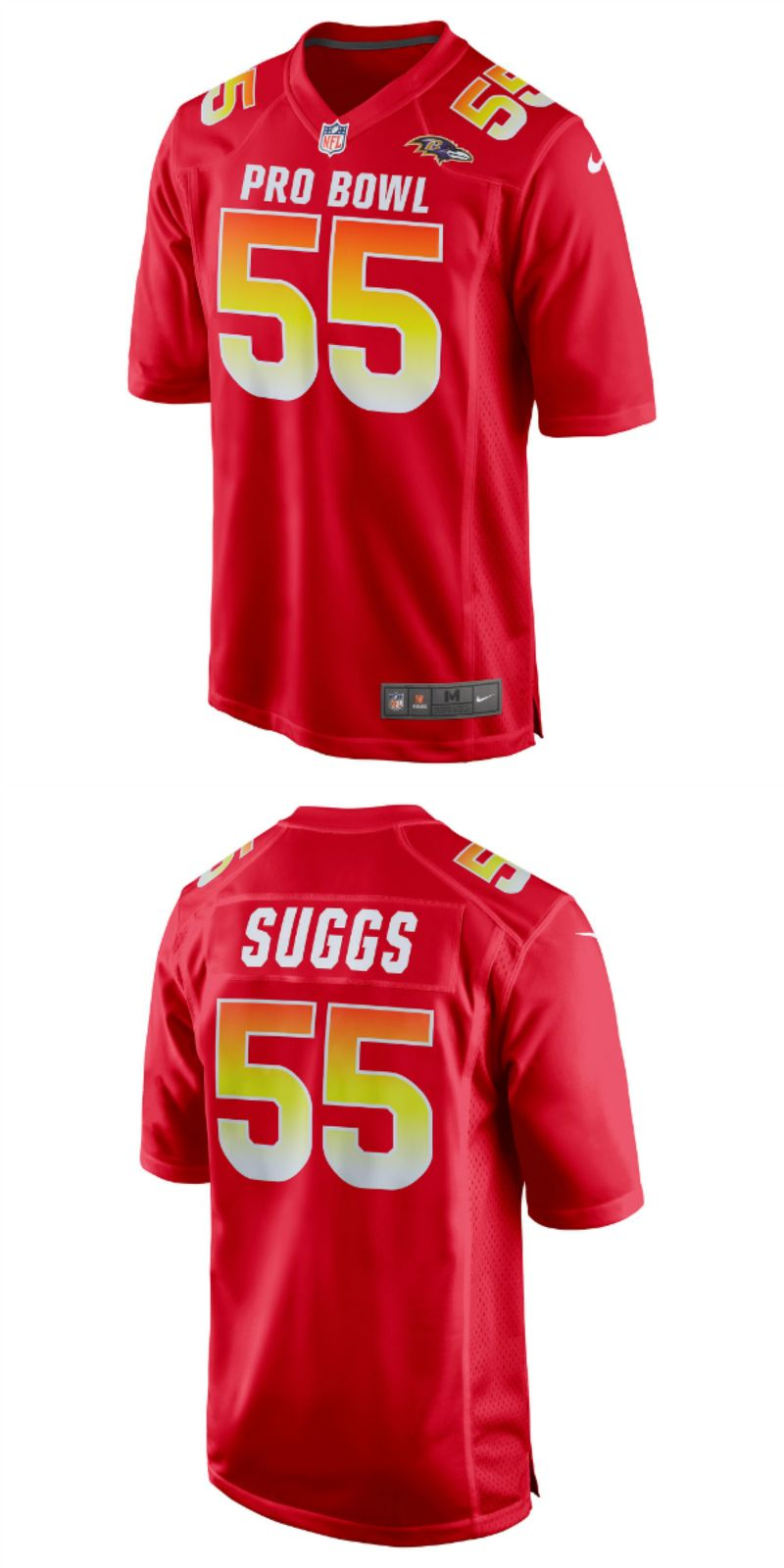 new arrival 22c22 673e9 UP TO 70% OFF. Terrell Suggs AFC Nike 2018 Pro Bowl Game ...