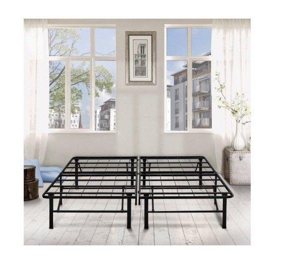 Bed Frame Black Metal Full Size 14 Easy Assembly Bedroom Bed Steel