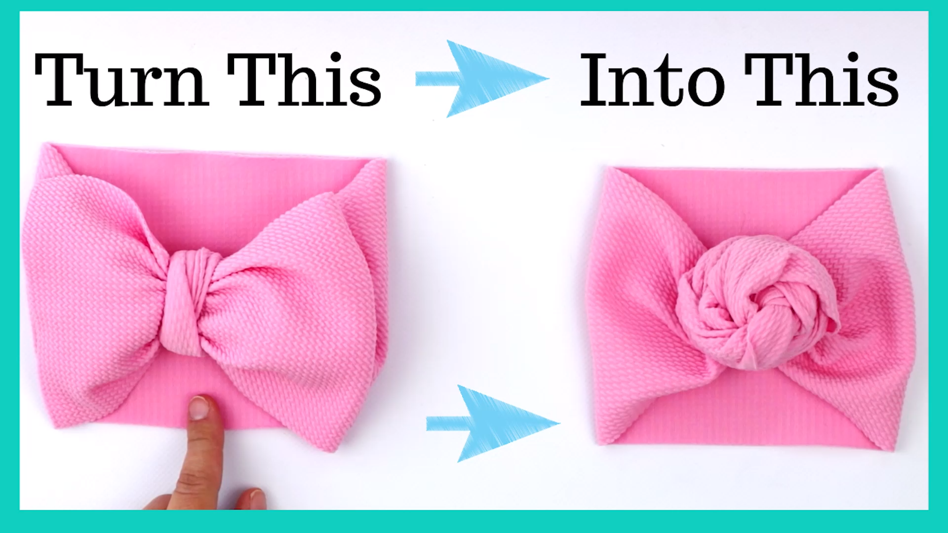 How to tie a baby headband rose from a baby headband bow
