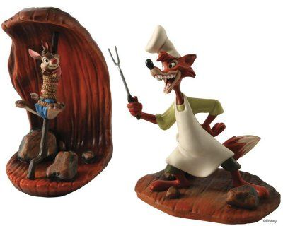 "Brer Fox has a plan...but so does Bree Rabbit...and you can bet that it ain't the same plan! ""COOKING UP A PLAN"" & ""LAST LAUGH"" - BRER FOX & BRER RABBIT (from Walt Disney's ""Song of the South"") (Walt Disney Classics Collection - WDCC)"