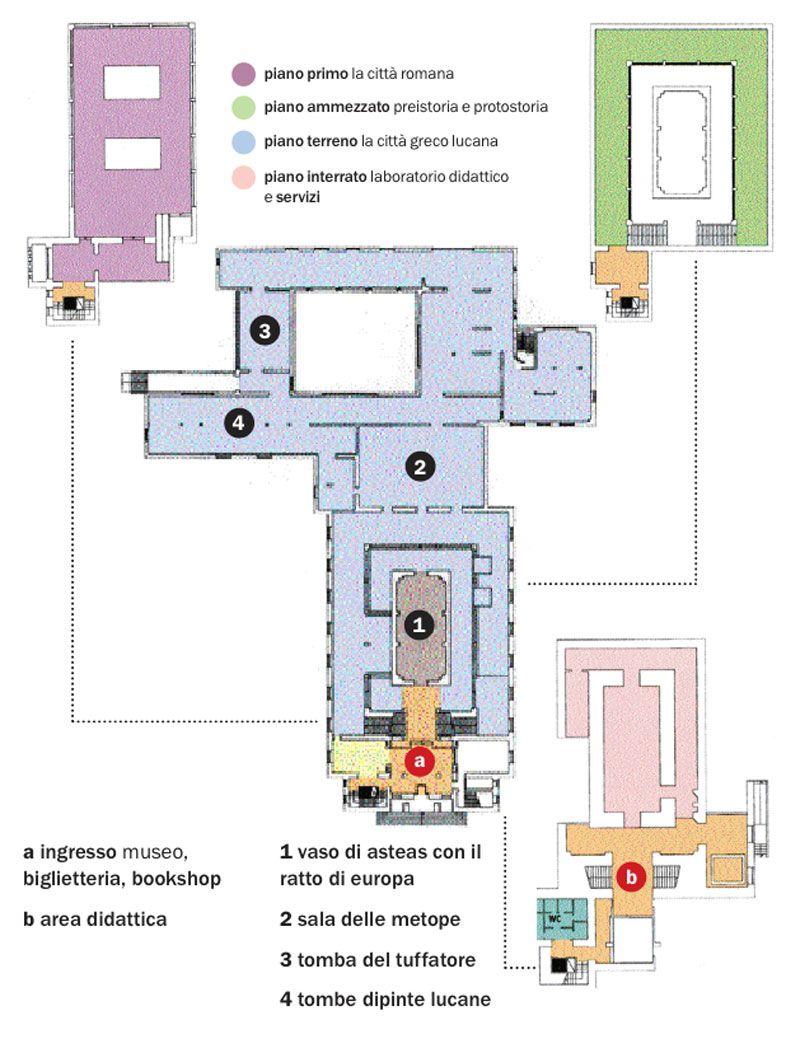 hight resolution of pianta del museo archeologico di paestum