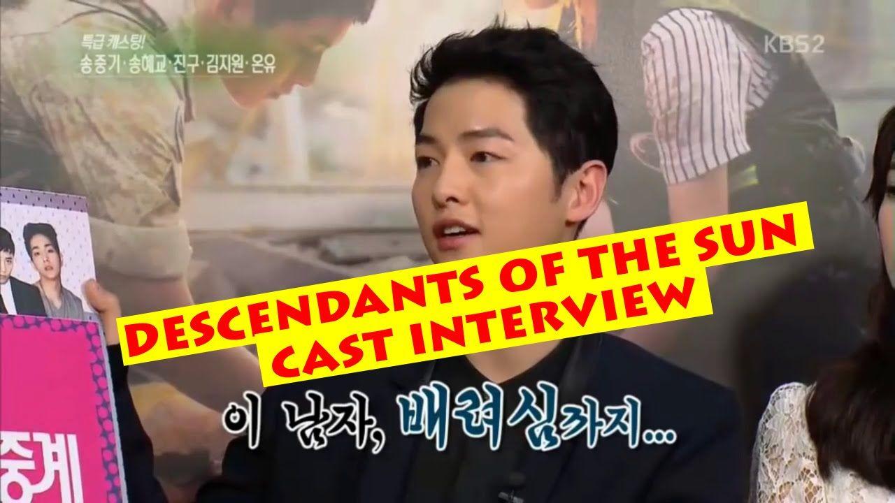 [ENGSUB] 160227 Entertainment Weekly Descendants of the Sun 태양의 후예 Cast ...