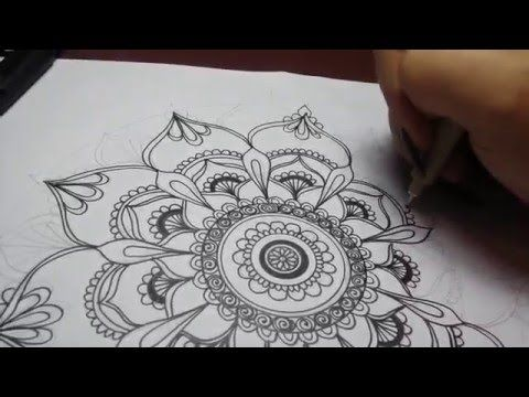 Art Projects Easy Mandala Drawing Speed Drawing Youtube