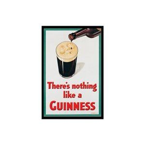 There's Nothing Like a Guinness Moon Face Tin Sign