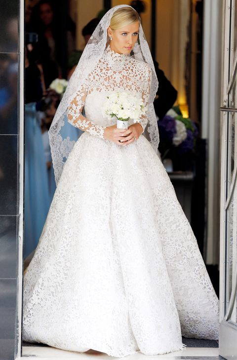 Nicky Hilton Weds James Rothschild Wearing a Valentino Wedding Gown ...