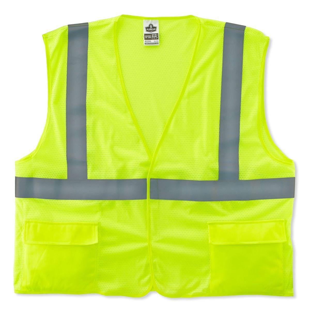 Ergodyne GloWear 8220HL Standard Vest Velcro Closure