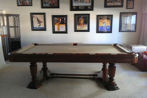 Standard Size Wooden Pool Table