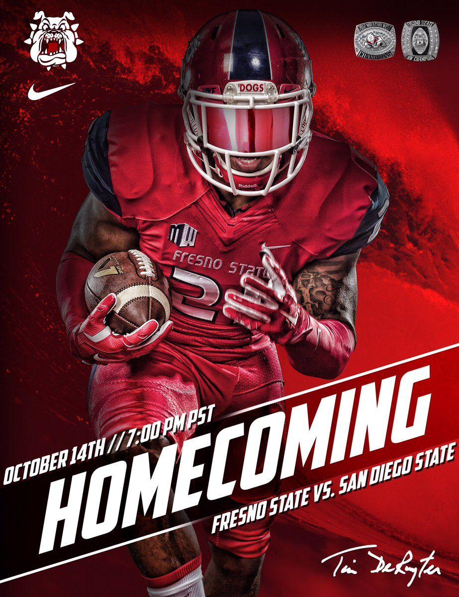 Fresno State Sports Graphic Design Sport Poster Design Sports Design Ideas