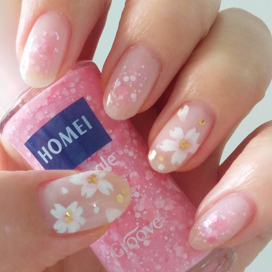 2017 cherry blossom spring | nail art | design inspiration ideas DIY ...