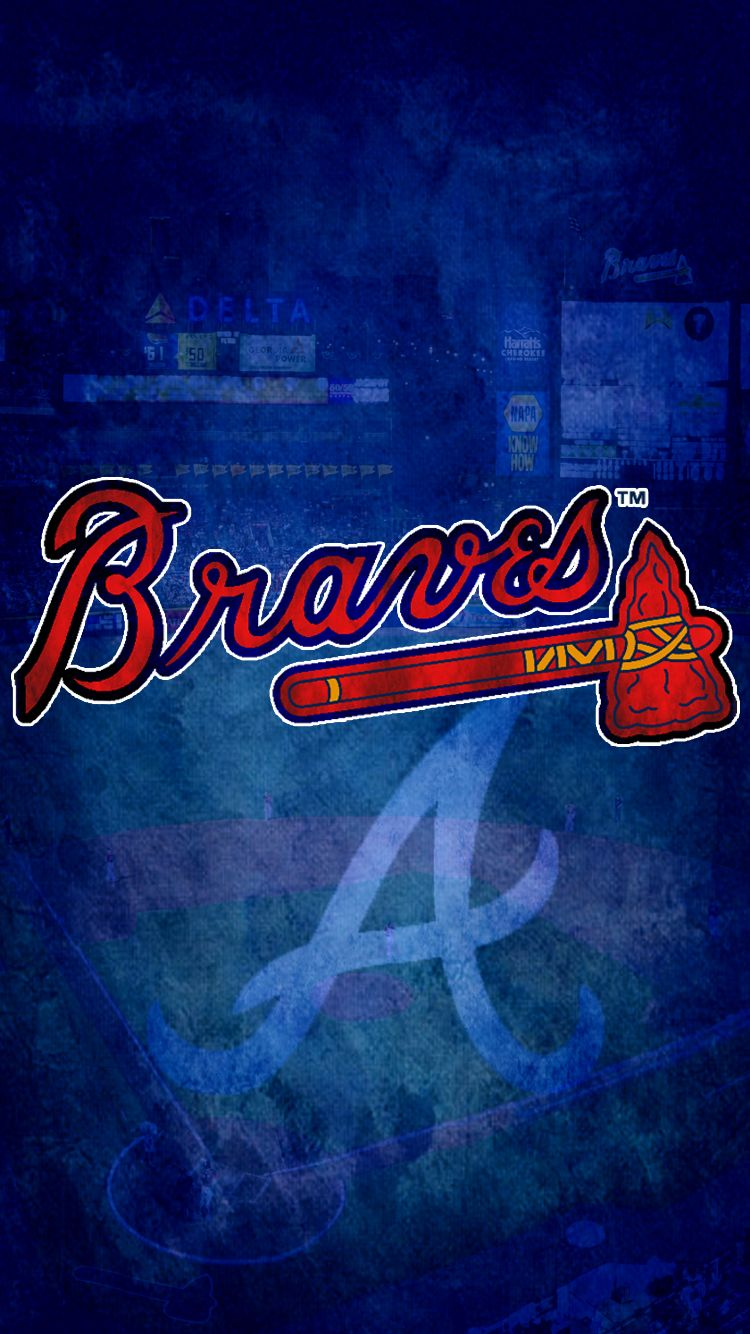 Pin By Clarissa On Iphone Wallpapers Atlanta Braves Brave Wallpaper Atlanta Braves Logo