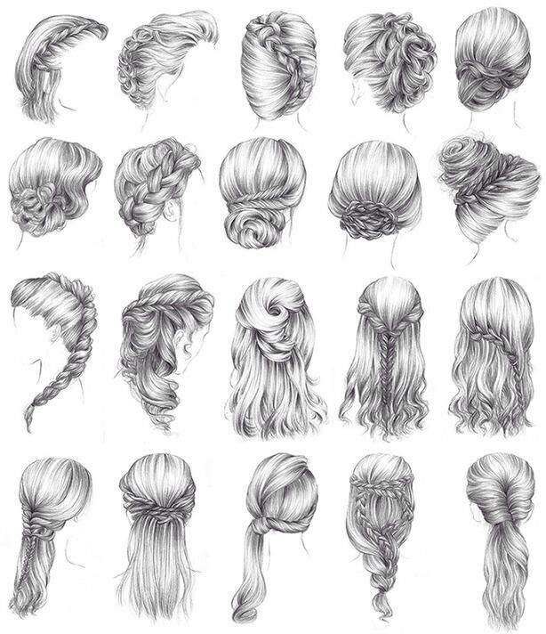 Another Bridal Hairstyles Wedding Updos Medieval Hair - Hairstyle in drawing