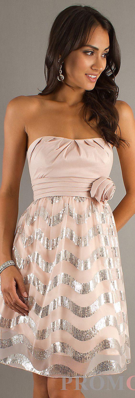 Mini dress strapless chic cocktail dresses party dresses