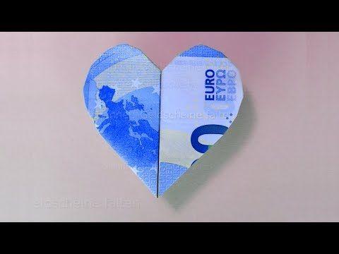 geldscheine falten herz einfaches herz aus geld falten f r geldgeschenke origami herzen. Black Bedroom Furniture Sets. Home Design Ideas