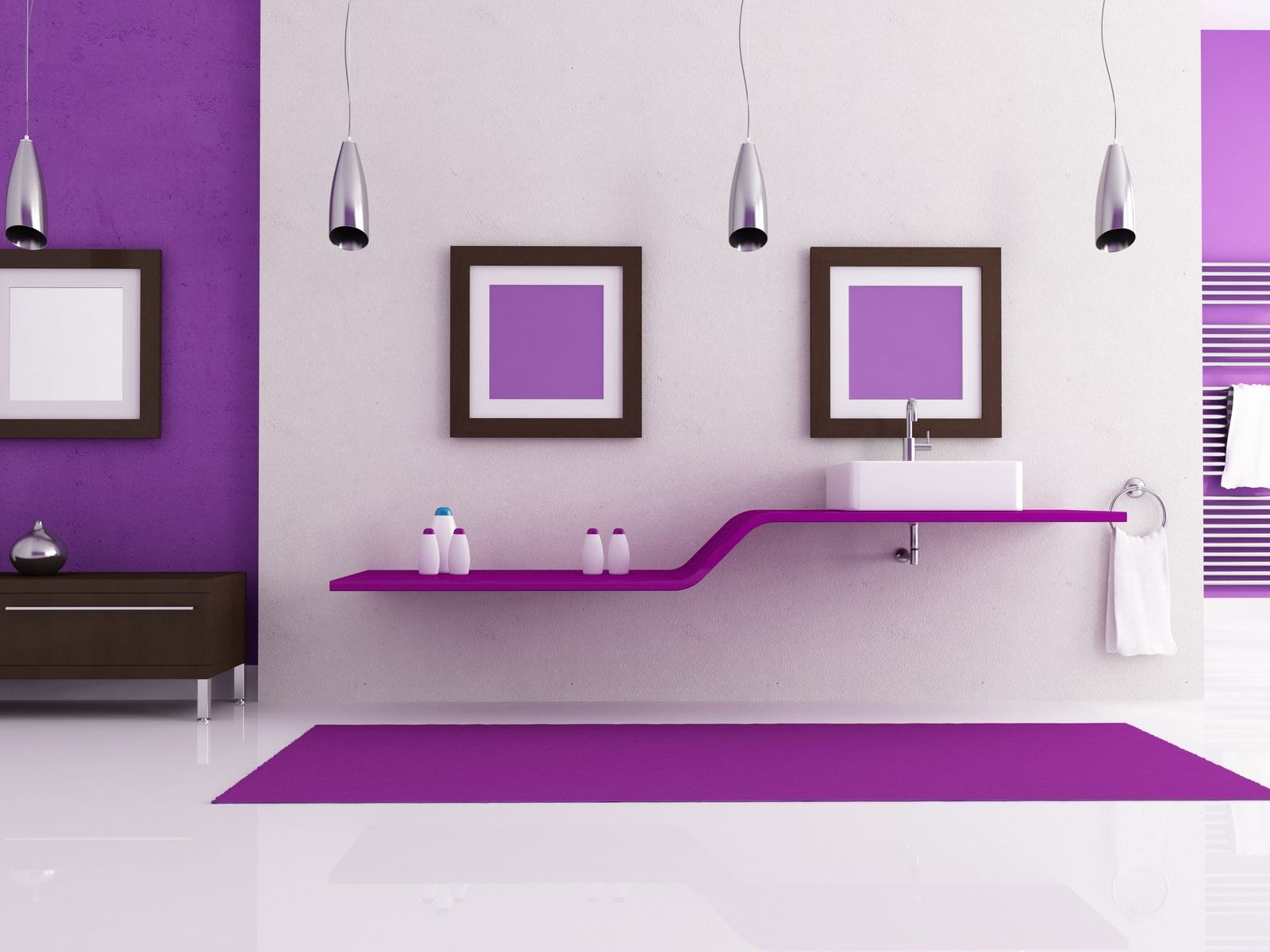 Marvelous Interior Design In Purple Color