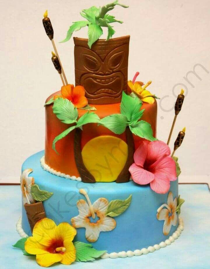 Aloha cake idea just a pic no recipe hawaiian