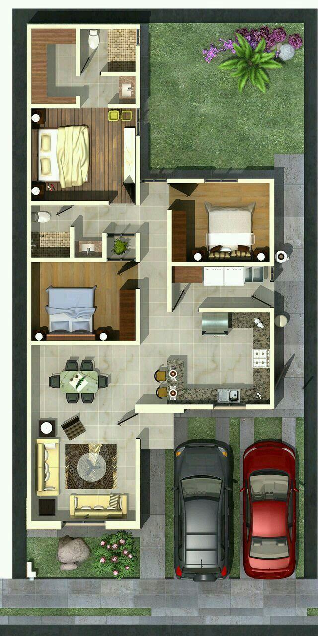 3 bedroom house interior design projeção da nossa casa  casa  pinterest  house architecture and