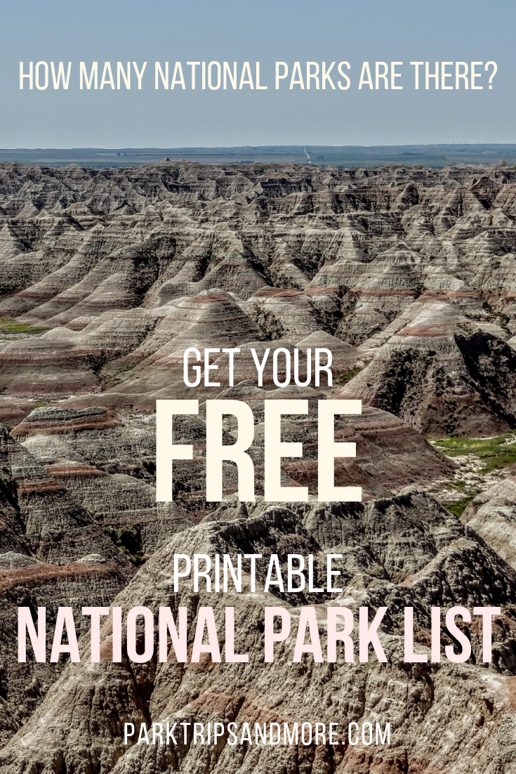 how many national parks are there? free printable | national parks
