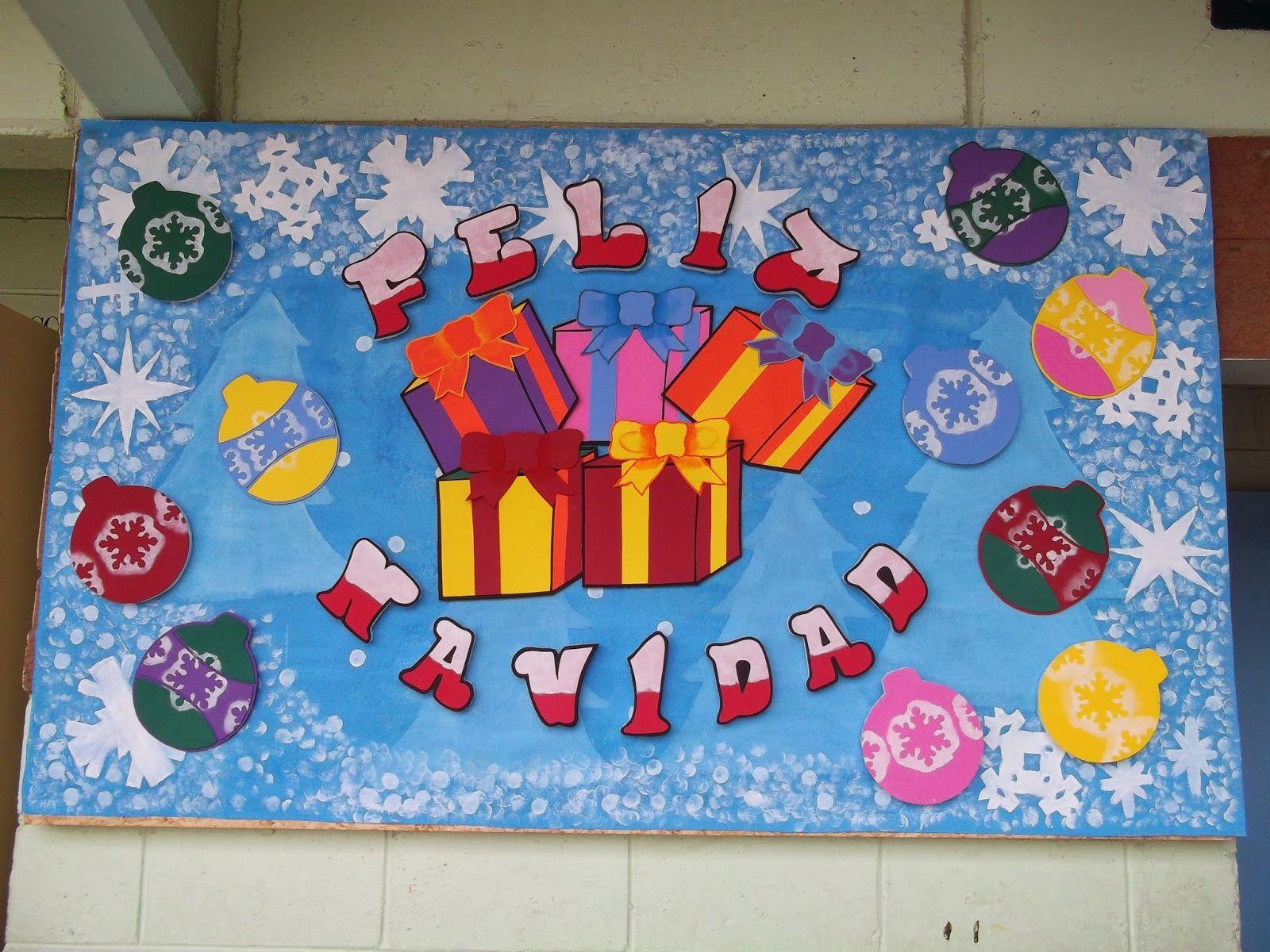 Decoraciones infantiles the teacher diciembre for Diario mural escolar