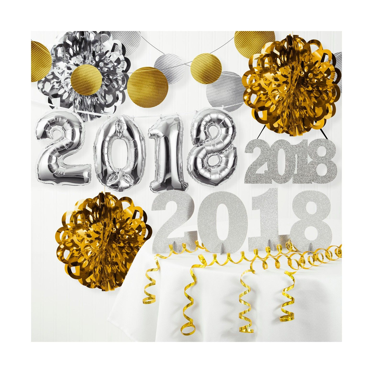 New Years Even Party Decor, Giant 2008 Balloon Kit, Gold ...