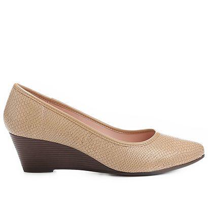 eee3a2b95 Compre Scarpin Azaleia Anabela Cobra Bege na Zattini a nova loja de moda  online da Netshoes