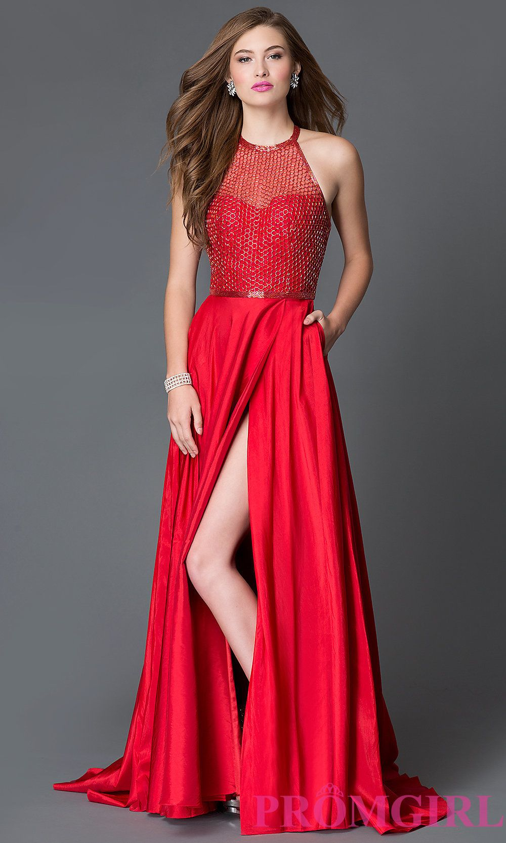 Long Sherri Hill Prom Dress with Multi-Strap Back -PromGirl | PROM ...