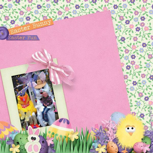 On the Hunt Collab & Word Art by Key Lime Digi Designs and Little Rad Trio ..layout by Jill  #easter #digisupplies #scrapbooklayout