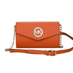 0f22bcb11f872e Michael Kors Fulton Flap Messenger Medium Orange Crossbody Bags ...