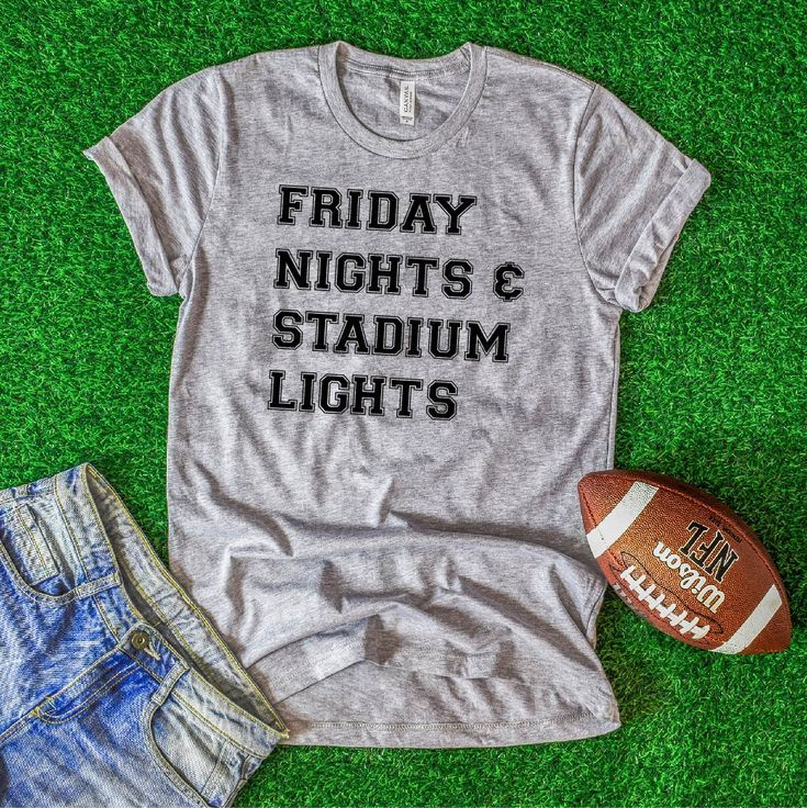 Friday Nights and Stadium Lights T-Shirt Friday Night Lights Football Shirt F #fridaynightlights