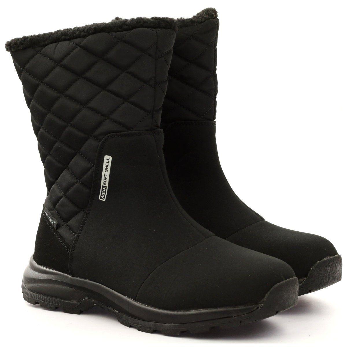 Kozaki Z Membrana Pikowane Dk 17137 Czarne Boots Shoes Winter Boot