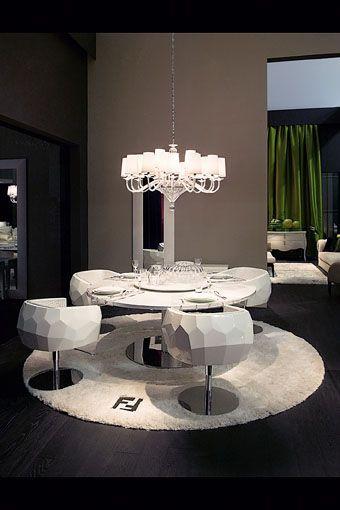 Contemporary dining room fendi casa contemporary for High end home decor
