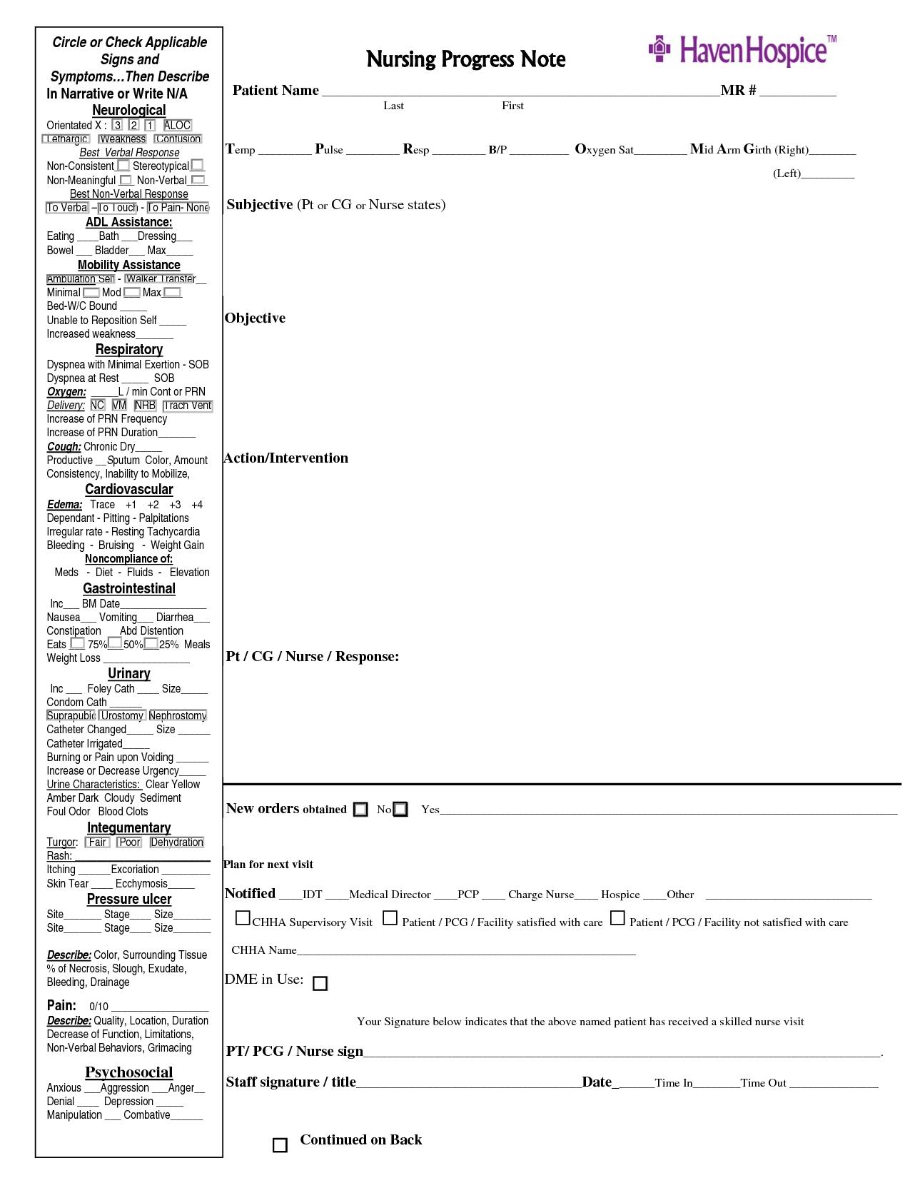 nursing notes | Nursing Progress Note | Documentation | Pinterest