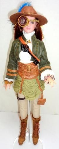 """Tonner Imperium Park Steampunk Military Theory Antoinette 16"""" Doll Monocle w/Box - Other"""