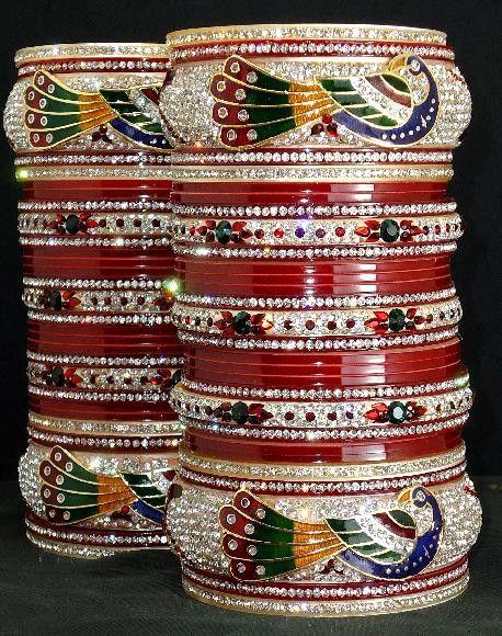 Enchanting Peacock Indian Bridal Chura buy it now at andaazcollectionscanada