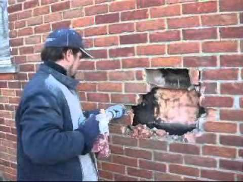 How To Repair A Broken Brick Face U Can Brick Face Repair Youtube Brick Repair Brick Face Brick Patterns