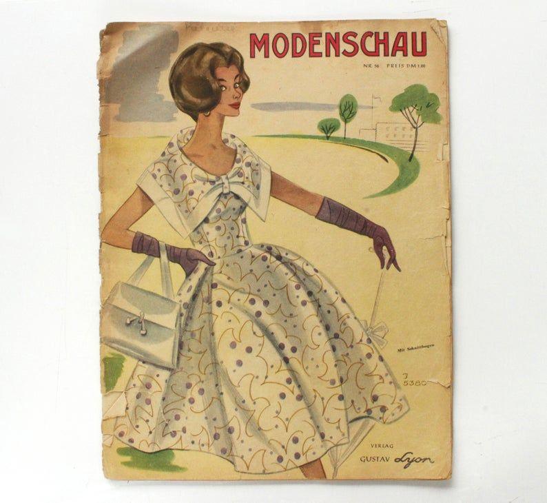 German 1950 S Women S Fashion Magazine Etsy 1950s Fashion Women Womens Fashion Magazines Fashion Illustration Vintage