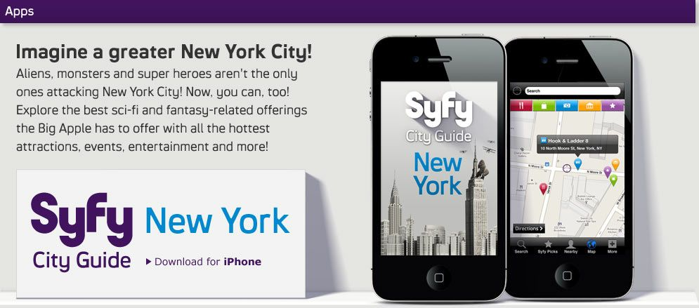 Syfy app keeps you updated with all your freaky shows    My