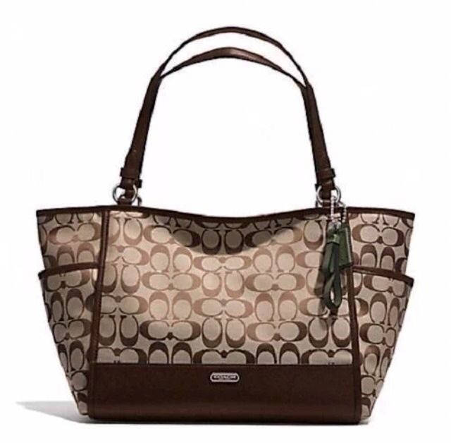 ea98ae01fe9e01 COACH PARKER LARGE SIGNATURE CARRIE TOTE SATCHEL OR LAPTOP BAG SHIPS 1 DAY  28728 #Coach #TotesShoppers