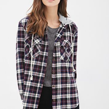 Hooded Plaid Flannel Shirt | My Style | Pinterest | Plaid flannel ...