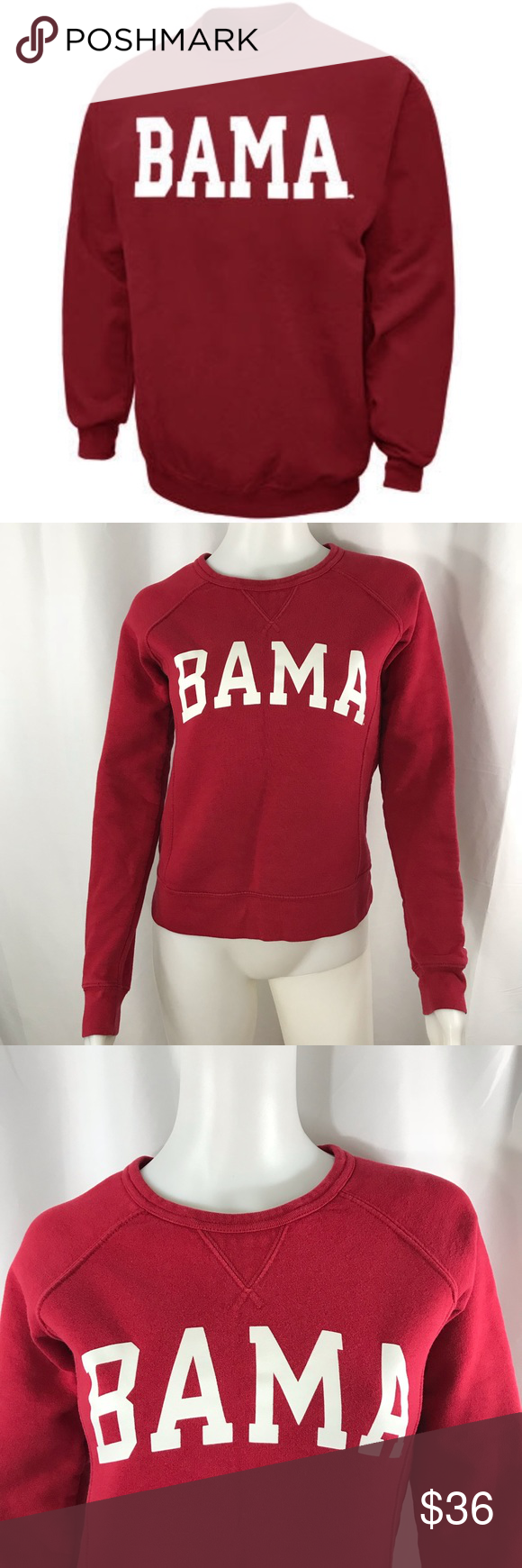 45 Alabama Burgundy White Logo Sweatshirt Xs Sweatshirts Clothes Design Sweatshirt Tops [ 1740 x 580 Pixel ]
