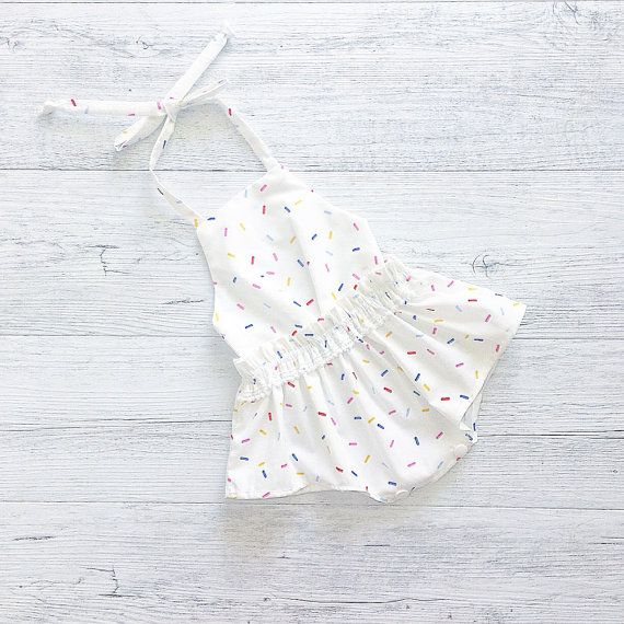 Photo of Baby Girl Romper, baby girl clothes, Baby Romper, Photography prop, Baby Bodysuit, Pinafore romper, Birthday outfit, babyshower gift, Summer