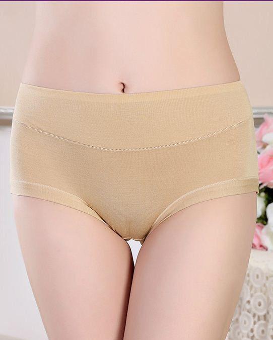 598eae82d Hot Top Quality Women Sexy Bamboo Fiber Seamless Briefs Spandex Ladies  Girls Black Panties Underwear Knickers M L XL XXL XXXL