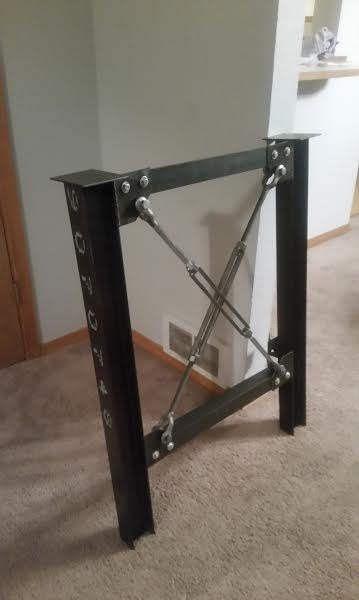 Industrial Table Legs - Desk Legs - Metal Table Legs - Unique ...