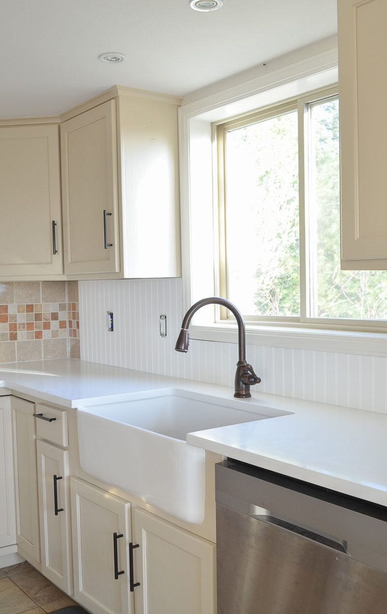 Beadboard Tile Backsplash