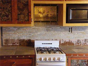 Log cabin kitchen backsplash ideas wow blog for Log cabin kitchen backsplash ideas