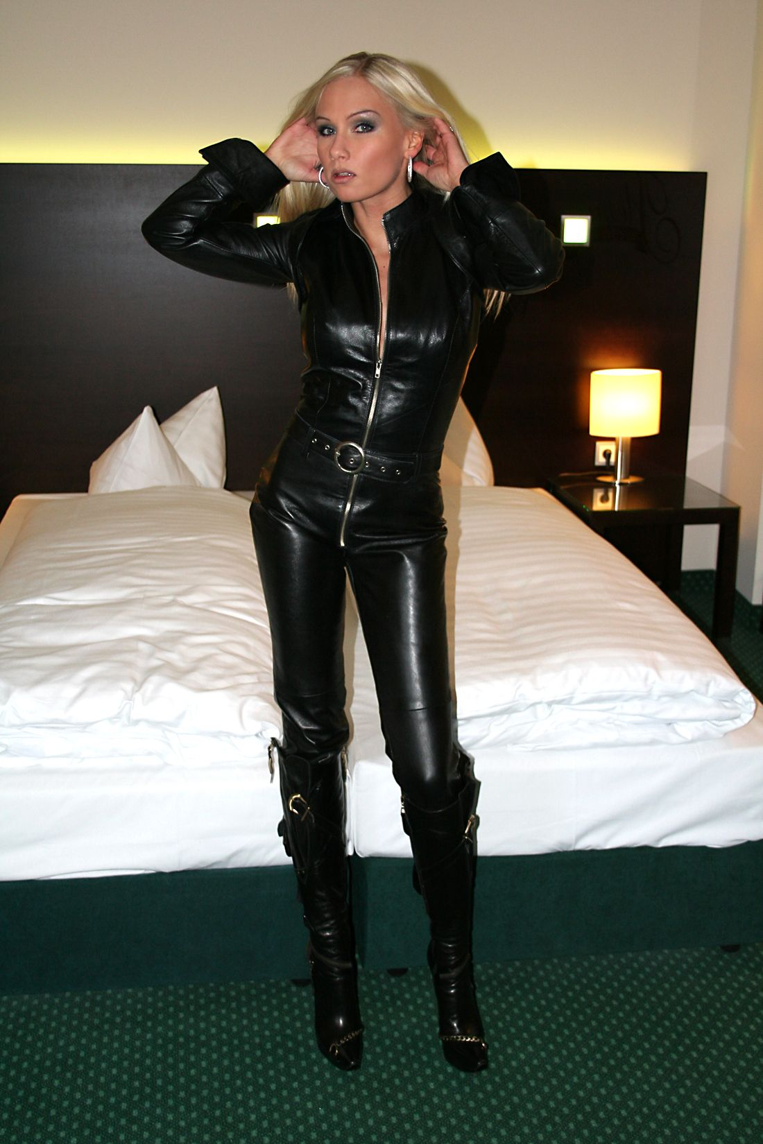 leather catsuit videos